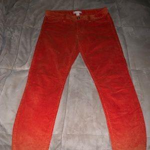 Banana Republic corduroy pants, orange, size 28